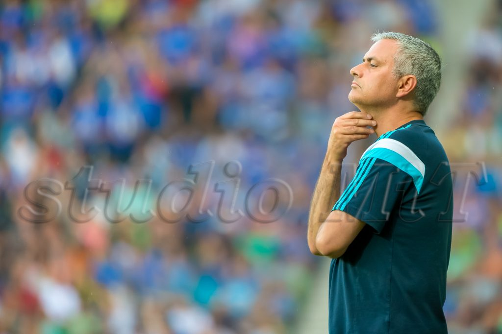 Jose Mourinho, manager of Chelsea during football match NK Olimpija vs CHELSEA FC on stages of Stozice, Ljubljana, Slovenia - July 27, 2014